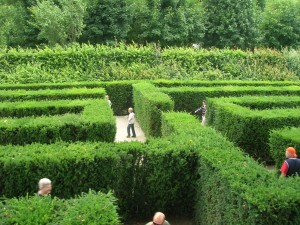 Tagliches Labyrinth Vor Der Haustur