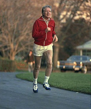 Jimmy Carter als Jogger