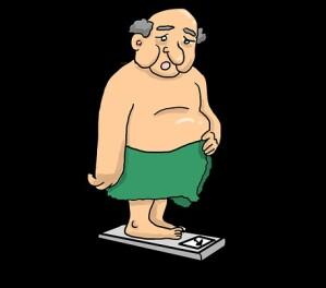Mit dem Alter steigt oft das Körpergewicht.