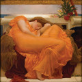 Flaming June, Öl auf Leinwand, Frederic Leighton, (1830–1896)